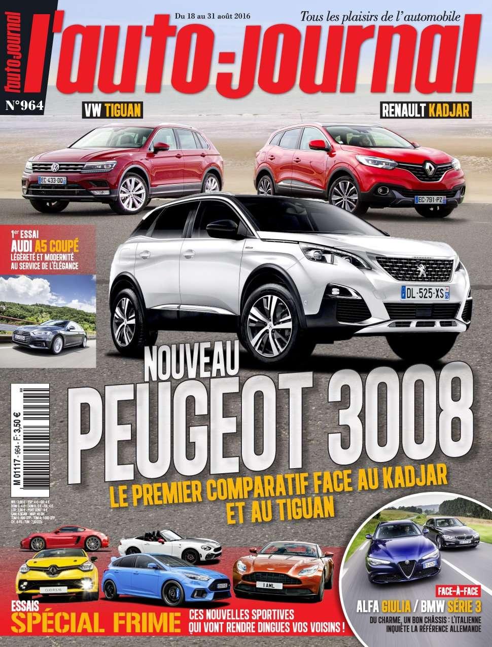 L'Auto-Journal 964 - 18 au 31 Aout 2016