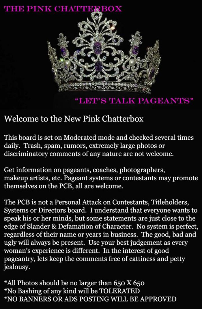 Mrs & Ms Pageant Chat Board