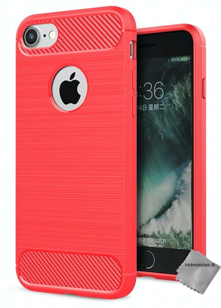 Housse-etui-coque-silicone-gel-carbone-pour-Apple-iPhone-7-film-ecran