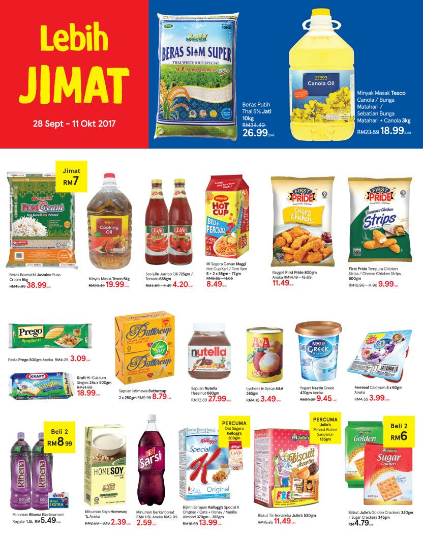 Tesco Malaysia Weekly Catalogue (28 Sep 2017 - 04 Oct 2017)