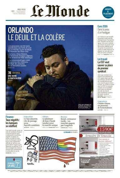 Le Monde du Mardi 14 Juin 2016