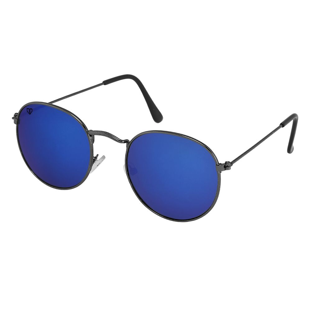 Walrus Royal Blue Mirror Color Unisex Oval Sunglass - WS-RYL-II-201818