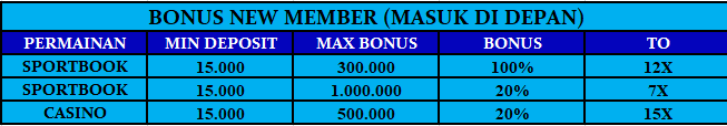 Bonus new member sportbook casino