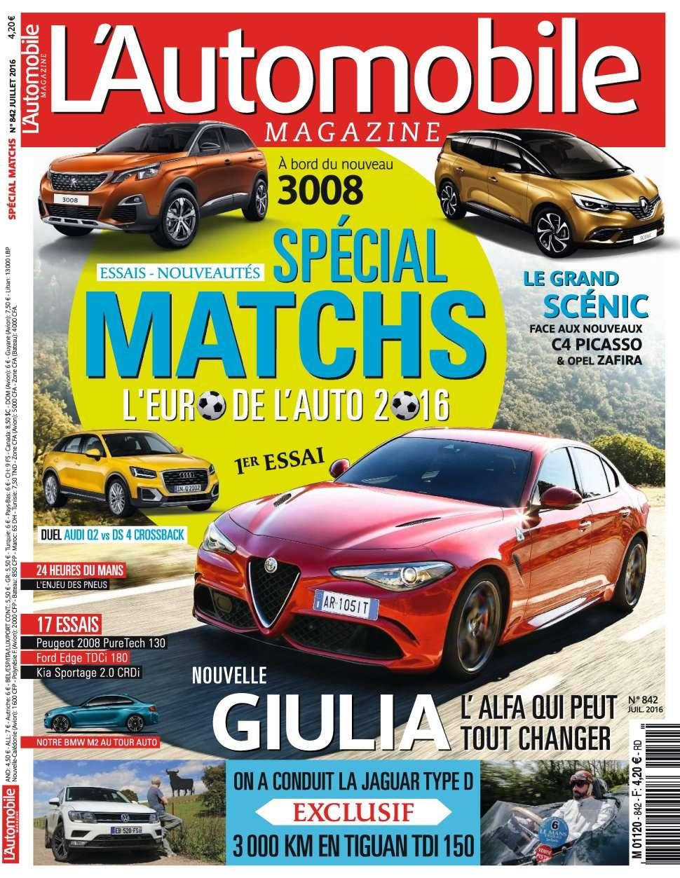 L'Automobile Magazine 842 - Juillet 2016
