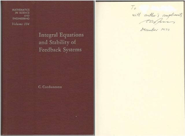 Integral equations and stability of feedback systems, Volume 104 (Mathematics in Science and Engineering)