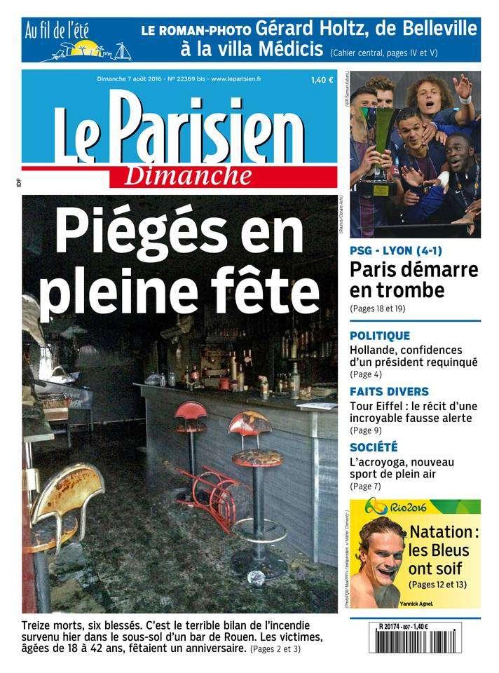 Le Parisien du Dimanche 07 Aout 2016