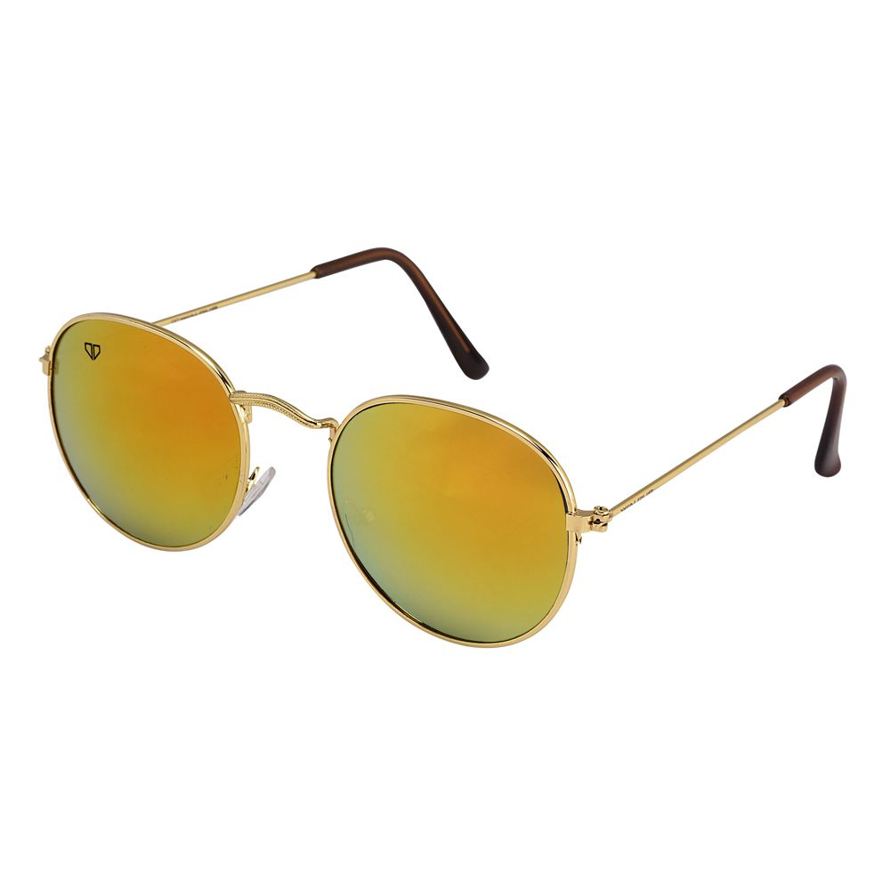 Walrus Royal Golden Mirror Color Unisex Oval Sunglass - WS-RYL-II-230606