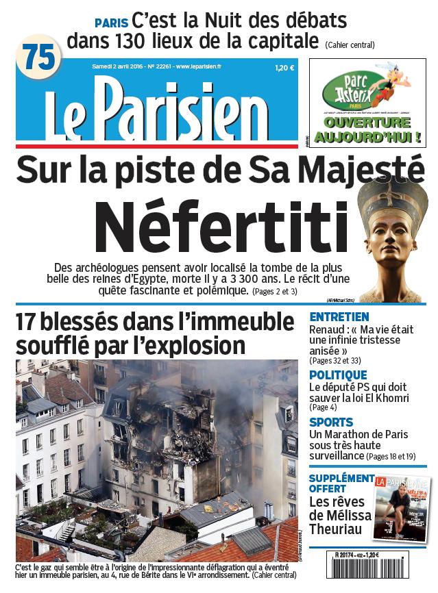 Le Parisien + Journal de Paris du Samedi 2 Avril 2016
