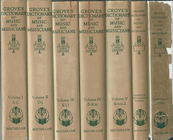 Grove's Dictionary of Music and Musicians (Six Volumes Complete | Third Edition), COLLES H.C.ED GROVE'S GROVES