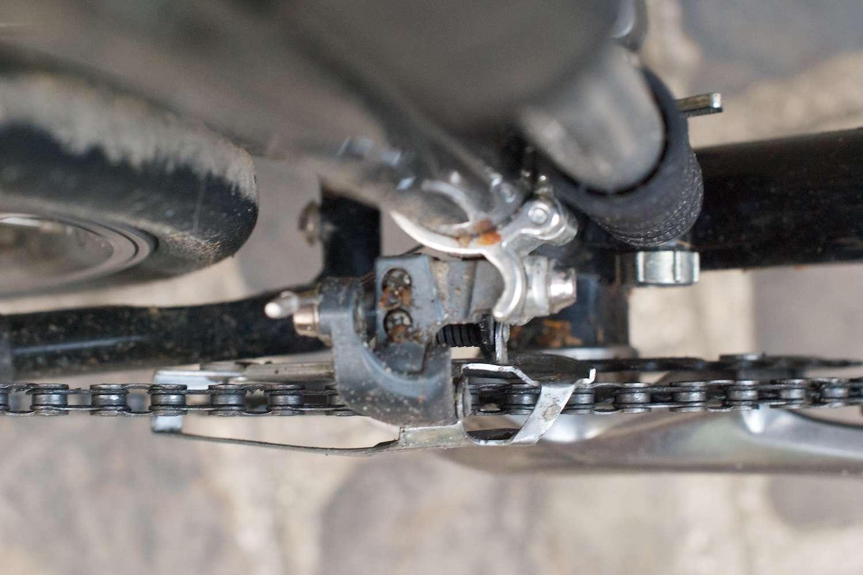 how to fix a bent front derailleur