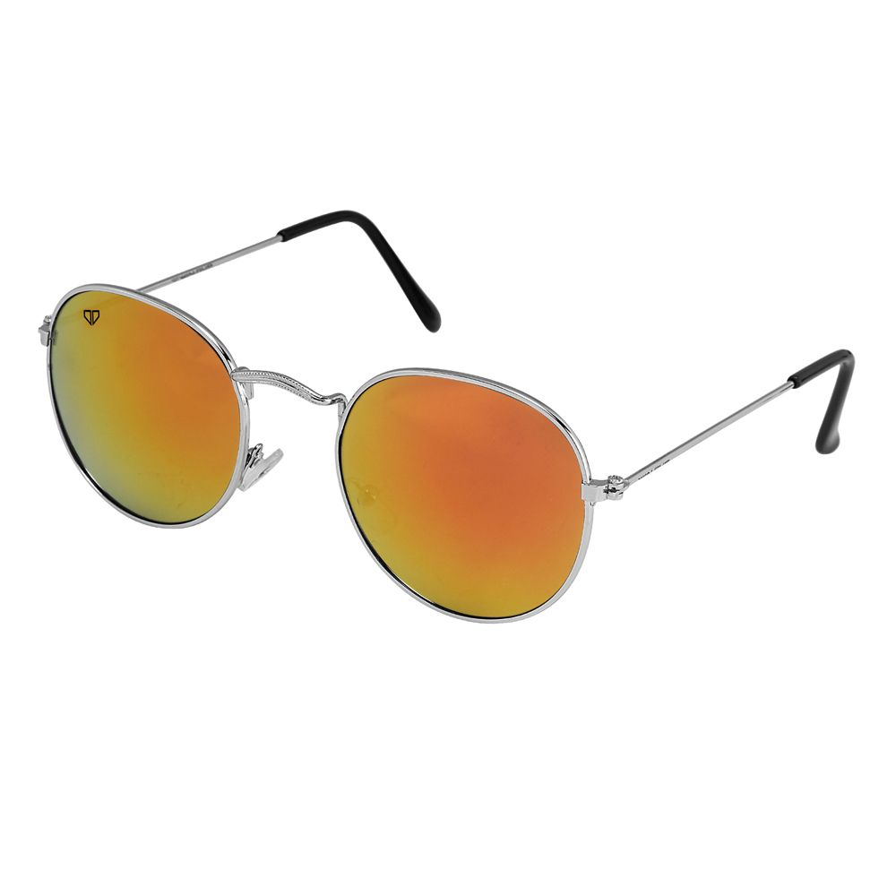Walrus Royal Golden Mirror Color Unisex Oval Sunglass - WS-RYL-II-230707