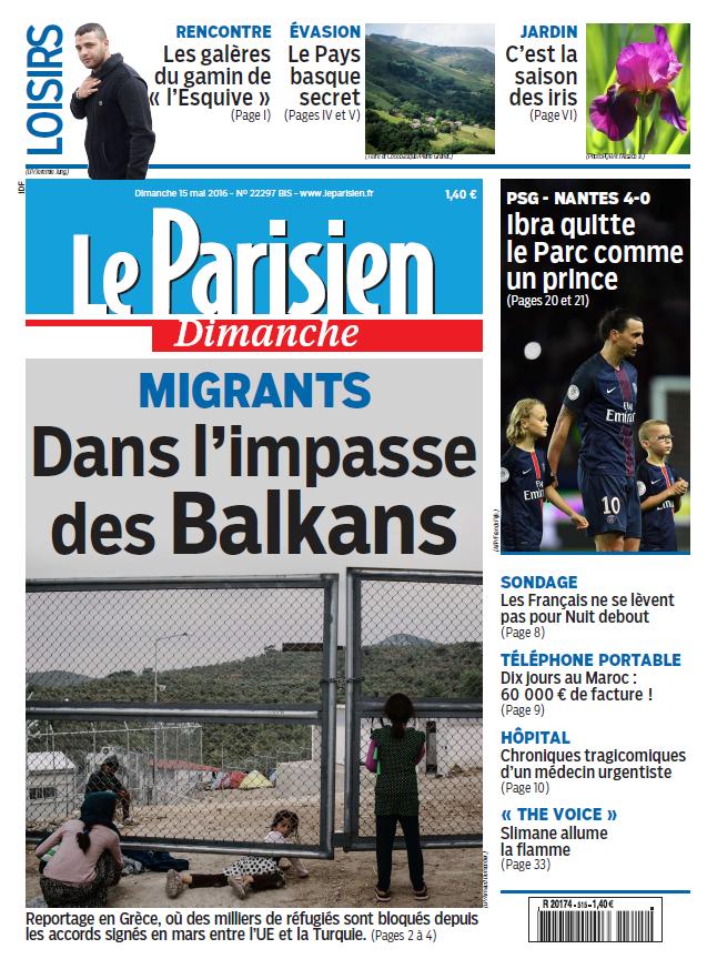 Le Parisien + votre journal du Dimanche 15 Mai 2016