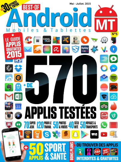 Best of Android Mobiles & Tablettes - Mai/Juillet 2015