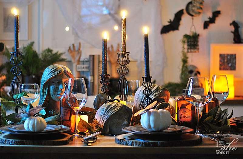 Haunted dining table decor night