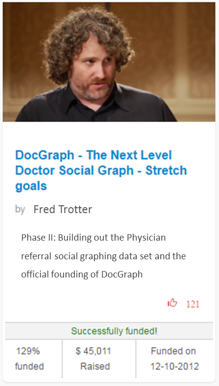 Fred Trotter DocGraph 2012 campaign