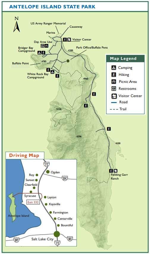 ANTELOPE ISLAND MAPA