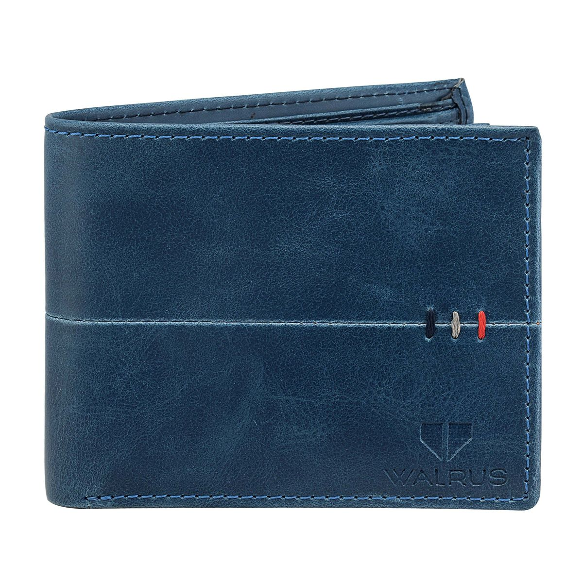 Walrus Daniel Blue Color Men Leather Wallet- WW-DNL-03