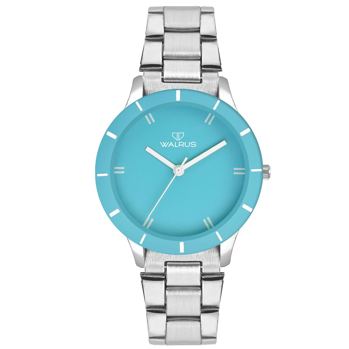 Walrus Eve Chain Cyan Color Analog Women Watch -WWW-Eve -CH-130707