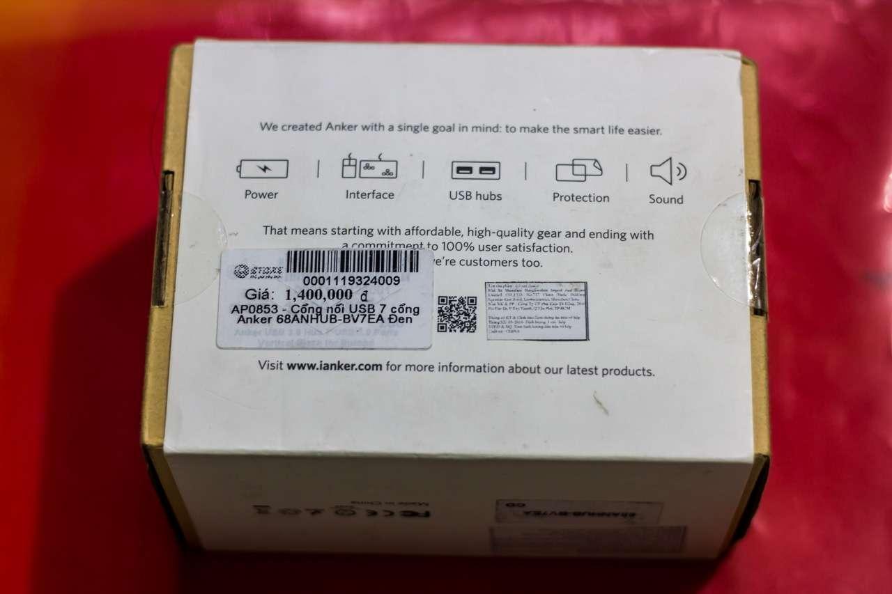 Anker USB 3.0 Hub 7*USB 3.0 Ports: Hub USB 7 cổng kèm khả năng sạc với công suất 60W cho 7 thiết bị - 164560