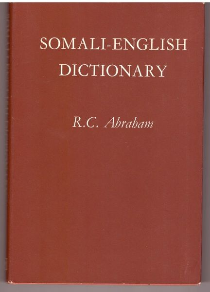 English-Somali Dictionary, Abraham, R.C.