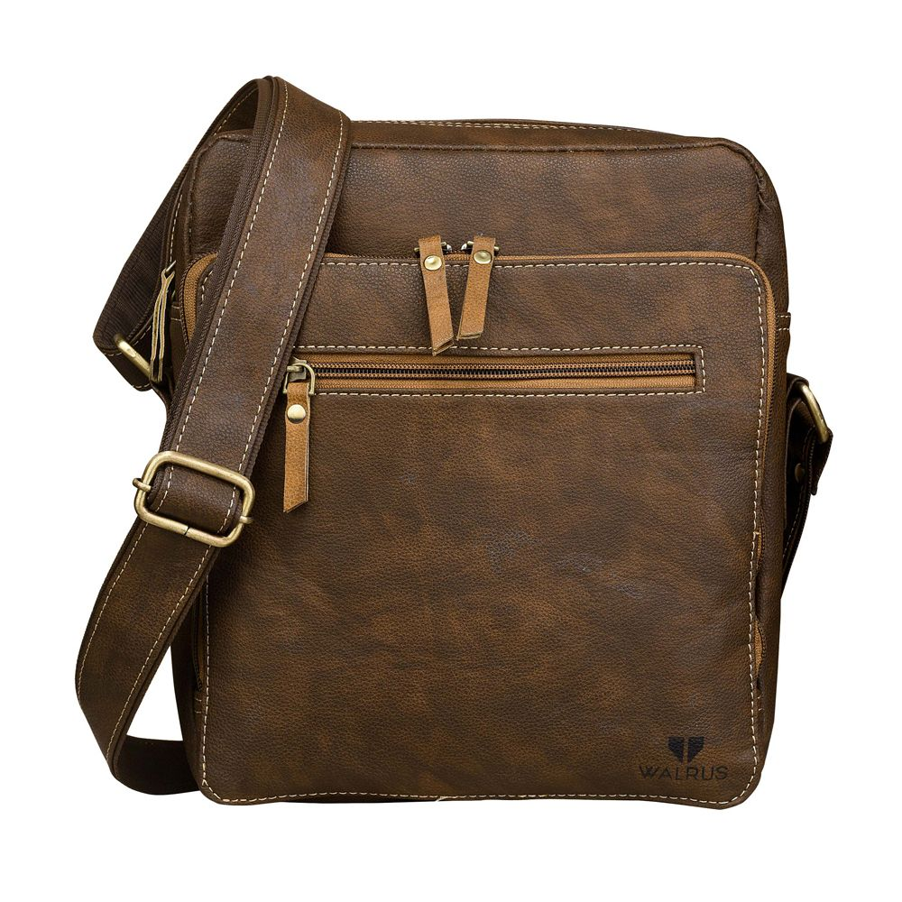 Walrus Mason Brown Color Premium Finish Unisex Messenger Bag