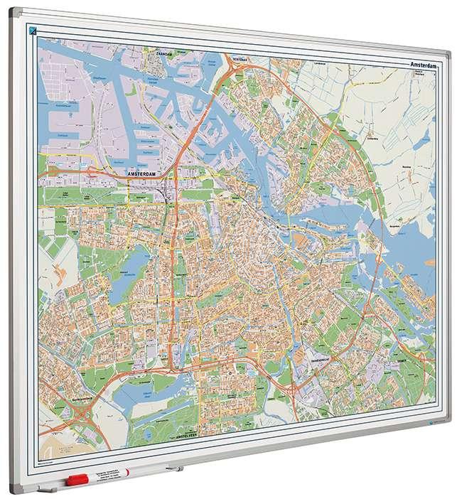 Photo: Landkaart bord Softline profiel 8mm, Amsterdam