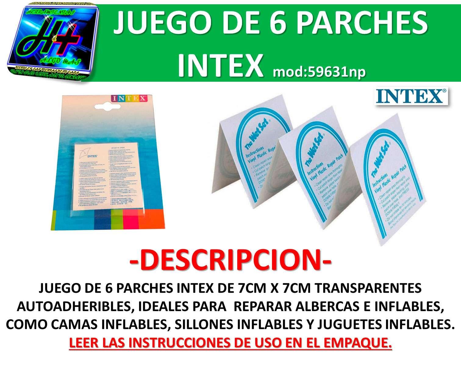 Parches reparar inflables y albercas intex 59631np bestway for Precio de piletas inflables
