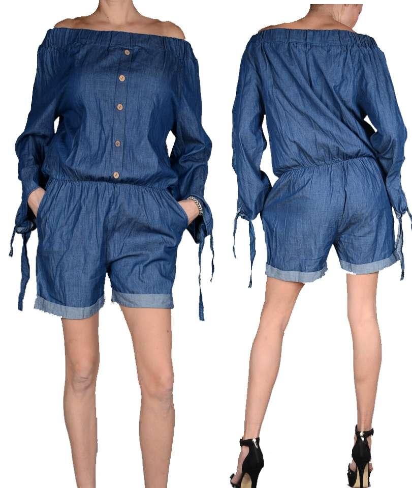 monaco sommer jumpsuit kurz jeans overall shorts hose. Black Bedroom Furniture Sets. Home Design Ideas