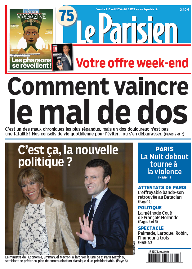 Le Parisien + journal de Paris du Vendredi 15 Avril 2016