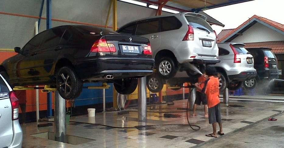 Cầu nâng 1 trụ rửa xe Ấn Độ ATS-ELGI