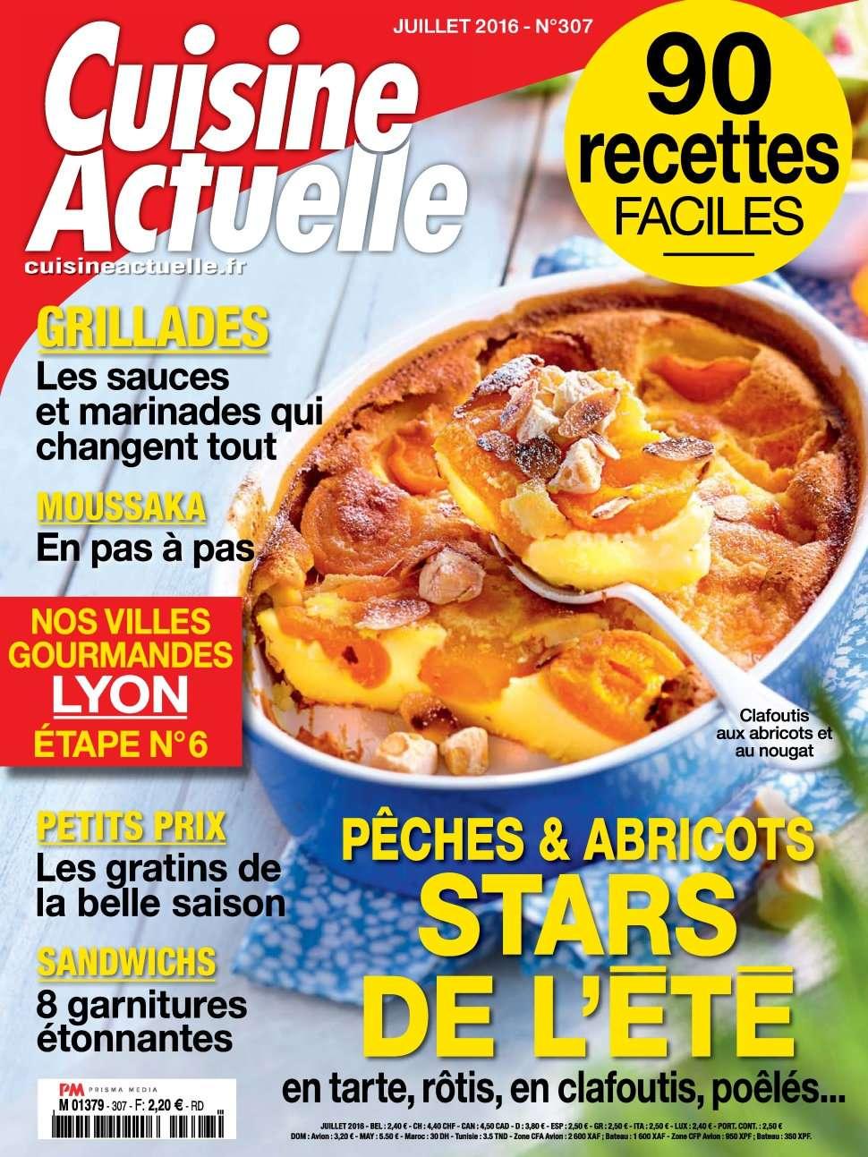 Cuisine Actuelle 307 - Juillet 2016