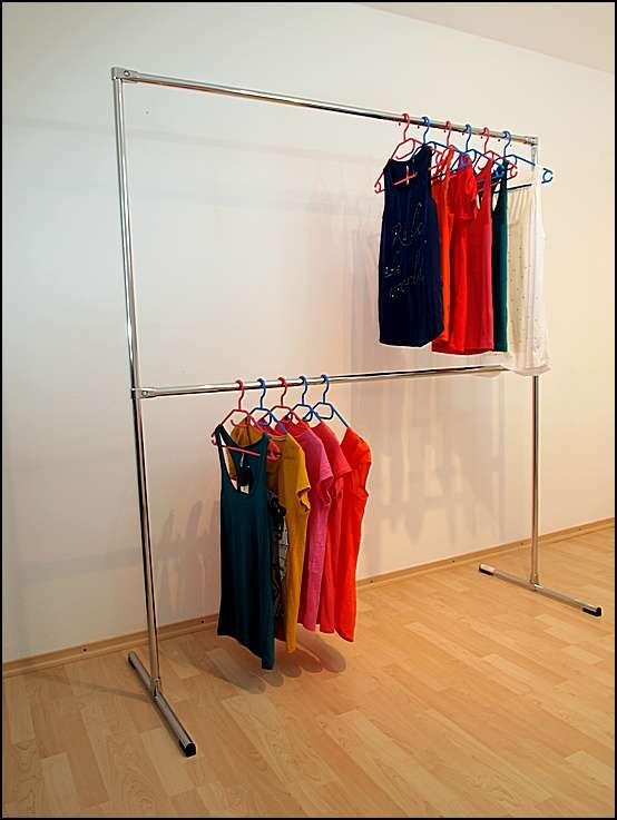 3 varianten 2 etagen profi kleiderst nder kleiderstange. Black Bedroom Furniture Sets. Home Design Ideas