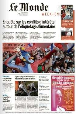 Le Monde Weekend et Suppléments du Samedi 9 Juillet 2016