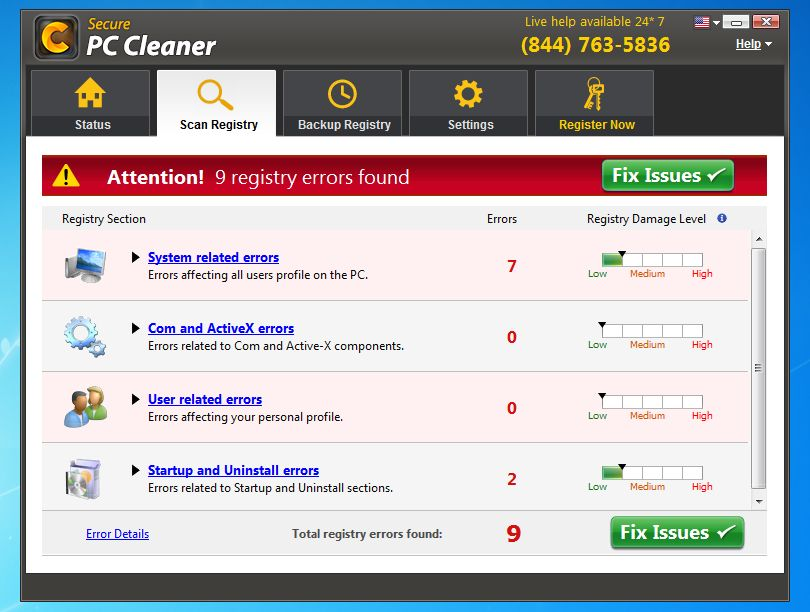 Remove Secure PC Cleaner