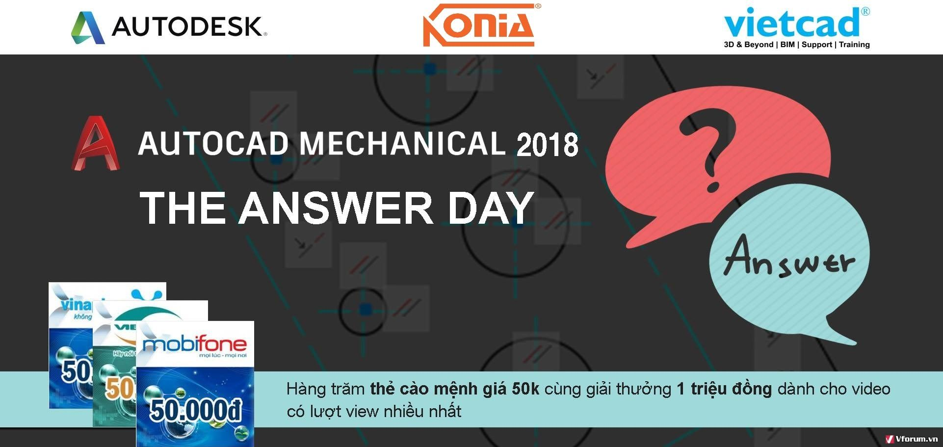 AUTOCAD MECHANICAL 2018 - THE ANSWER DAY