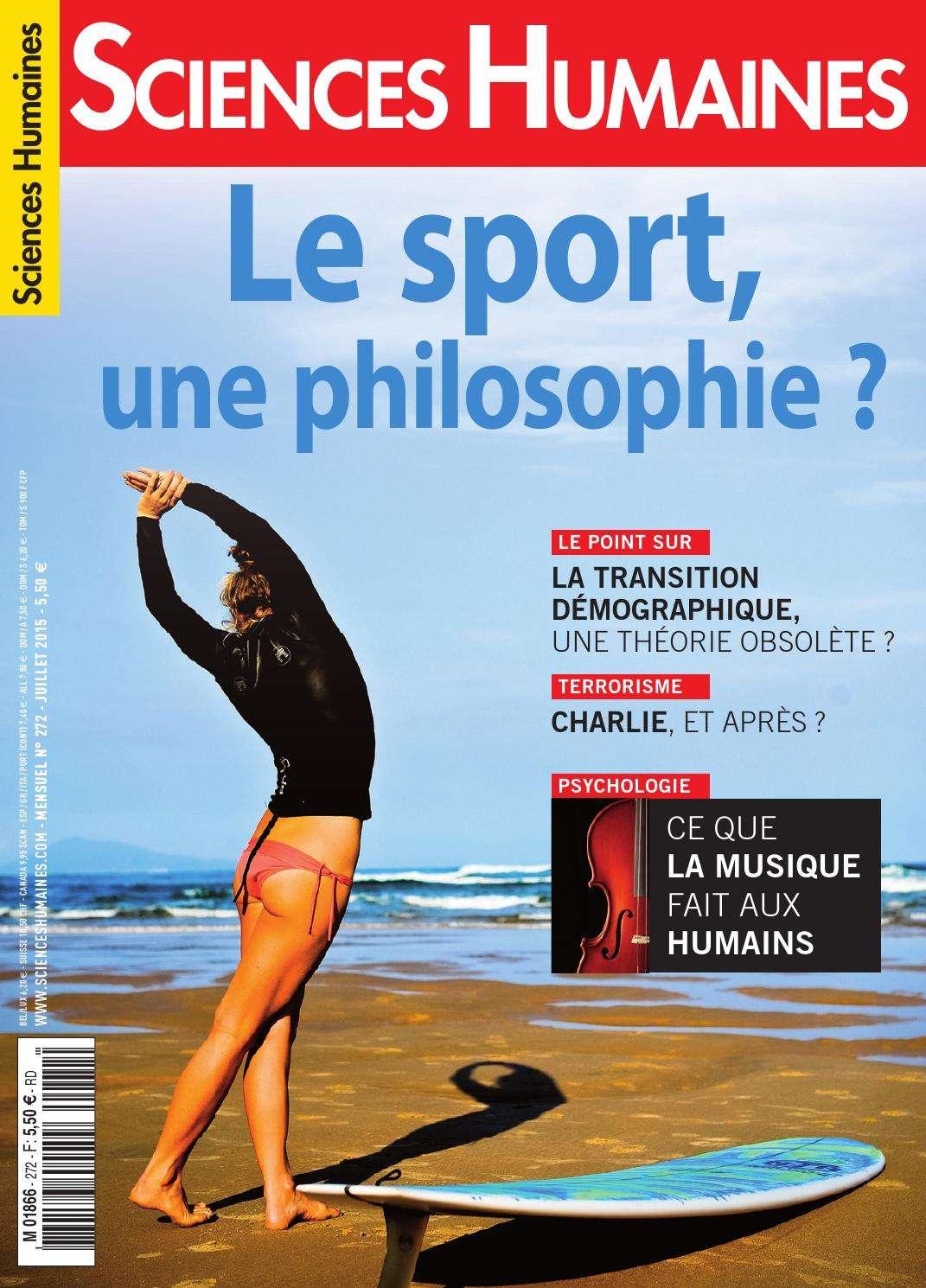 Sciences Humaines 272 - Le Sport Une Philosophie ?