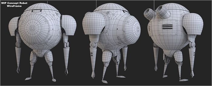 Concept Robot Wireframe