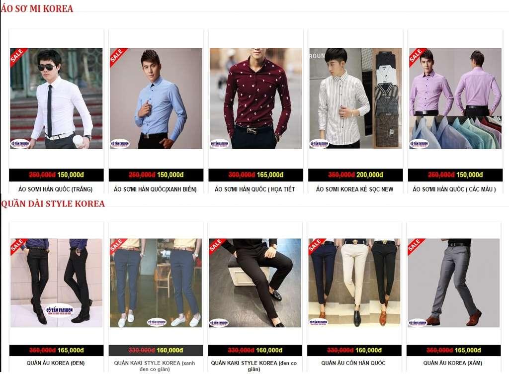 Thời trang nam giá rẻ
