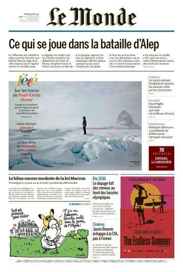 Le Monde du Mercredi 10 Août 2016