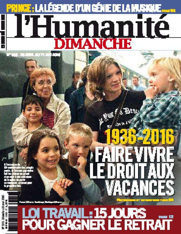 L'Humanité Dimanche - 28 Avril au 11 Mai 2016
