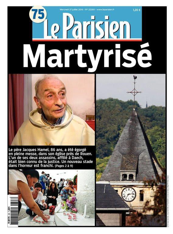 Le Parisien + Journal de Paris du Mercredi 27 Juillet 2016