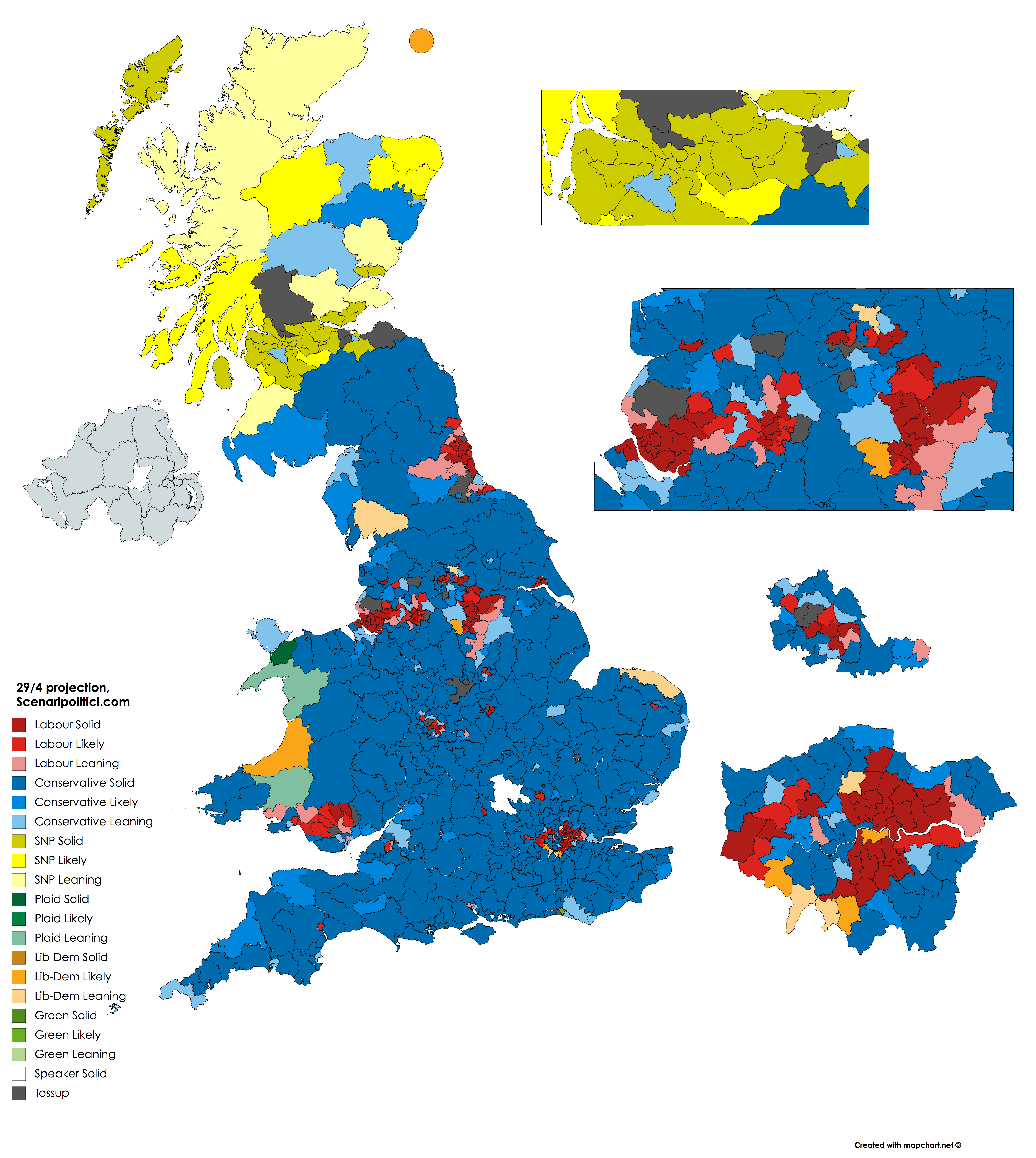 British General Election 2017 – 29 apr projection