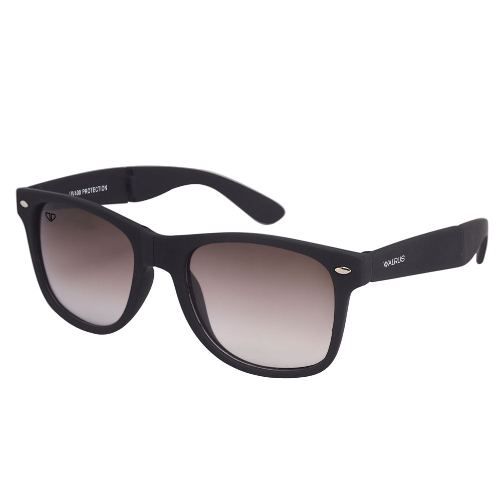 Walrus Flex Black Color Unisex Wayfarer Sunglass - WS-FLX-MT-020202