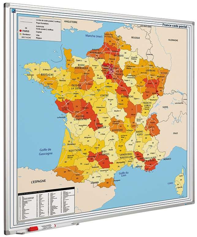 Photo: Landkaart bord Softline profiel 8mm, Frankrijk PC