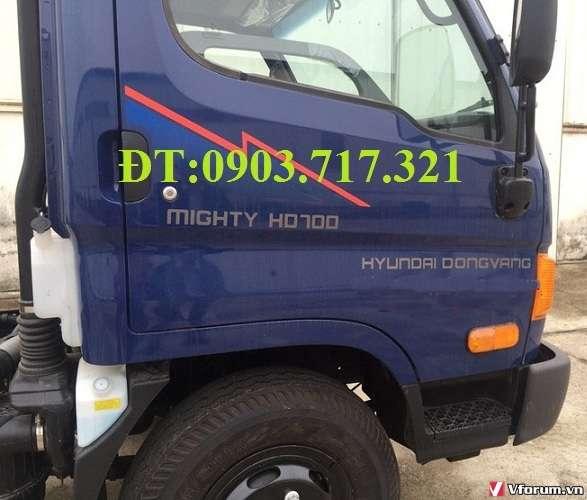 Xe tải hyundai hd700 sức mạnh vượt trội. xe hyundai hd700 đồng vàng giá tốt, giao xe ngay
