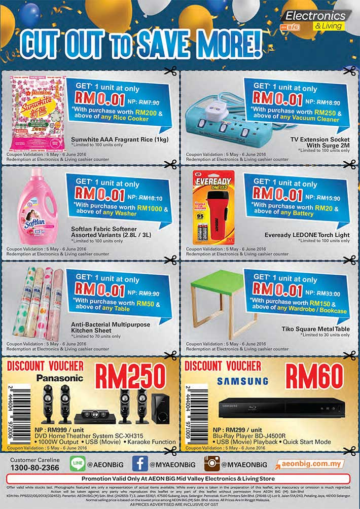 Aeon Big Catalogue (5 May - 2 June 2016)