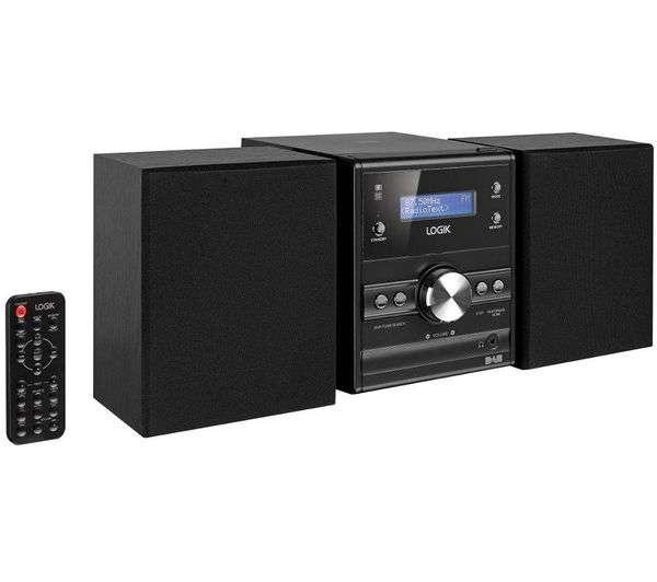 logik lhfdab14 dab fm tuner cd player micro mini hi fi system with alarm clock. Black Bedroom Furniture Sets. Home Design Ideas
