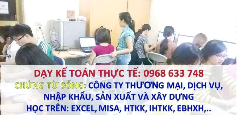 Dạy kế toán thực tế theo yêu cầu - Mr Loan