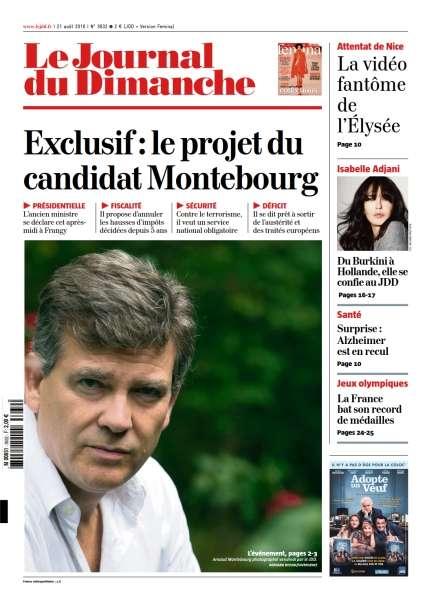 Le Journal du Dimanche - 21 Août 2016