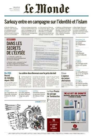 Le Monde du Mardi 23 Août 2016